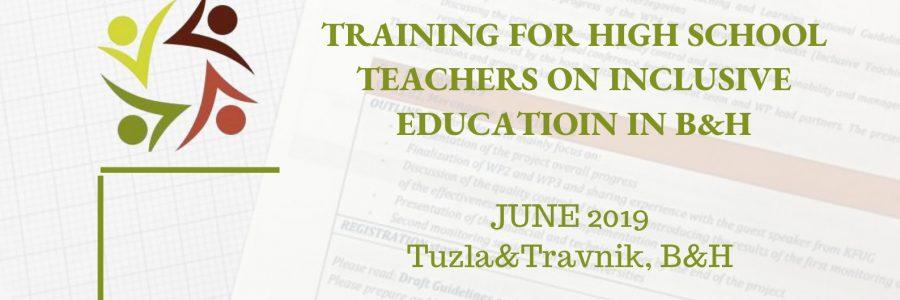TRAINING FOR HIGH SCHOOL TEACHERS IN BIH